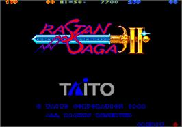 Title screen of Rastan Saga 2 on the Arcade.