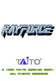 Title screen of Ray Force on the Arcade.