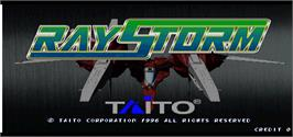 Title screen of Ray Storm on the Arcade.