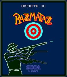 Title screen of Razzmatazz on the Arcade.