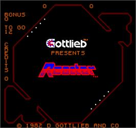 Title screen of Reactor on the Arcade.