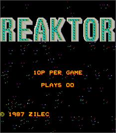 Title screen of Reaktor on the Arcade.