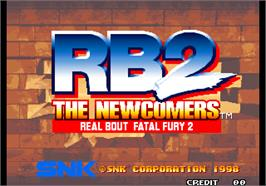 Title screen of Real Bout Fatal Fury 2 - The Newcomers on the Arcade.