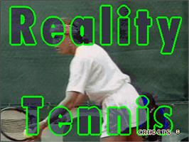 Title screen of Reality Tennis on the Arcade.