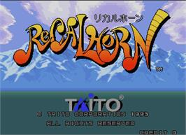 Title screen of Recalhorn on the Arcade.