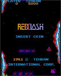 Title screen of Red Clash on the Arcade.