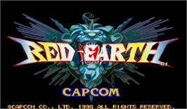 Title screen of Red Earth on the Arcade.