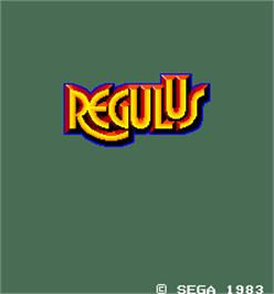 Title screen of Regulus on the Arcade.