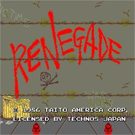 Title screen of Renegade on the Arcade.