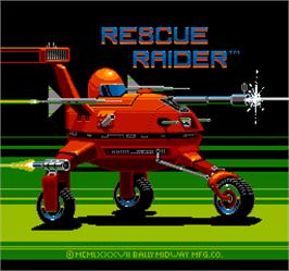 Title screen of Rescue Raider on the Arcade.