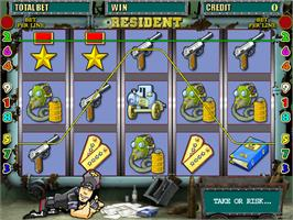 Title screen of Resident on the Arcade.