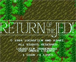 Title screen of Return of the Jedi on the Arcade.