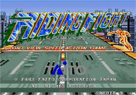 Title screen of Riding Fight on the Arcade.