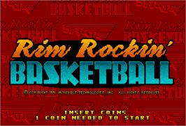 Title screen of Rim Rockin' Basketball on the Arcade.