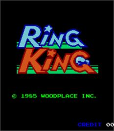 Title screen of Ring King on the Arcade.