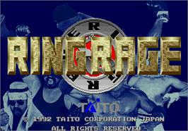 Title screen of Ring Rage on the Arcade.