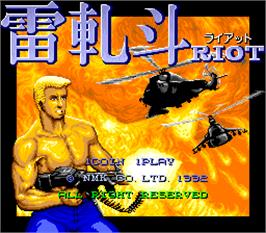 Title screen of Riot on the Arcade.