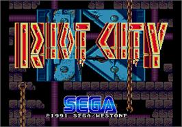 Title screen of Riot City on the Arcade.