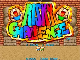 Title screen of Risky Challenge on the Arcade.