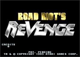 Title screen of Road Riot's Revenge on the Arcade.