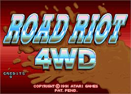 Title screen of Road Riot 4WD on the Arcade.