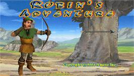 Title screen of Robin's Adventure on the Arcade.