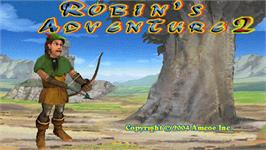Title screen of Robin's Adventure 2 on the Arcade.