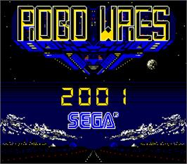 Title screen of Robo Wres 2001 on the Arcade.