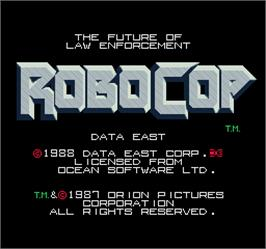 Title screen of Robocop on the Arcade.