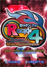 Title screen of Rock'n 4 on the Arcade.