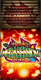 Title screen of Rock'n MegaSession on the Arcade.