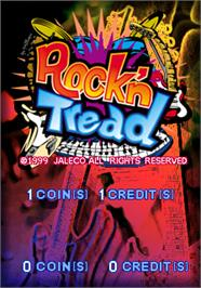 Title screen of Rock'n Tread on the Arcade.