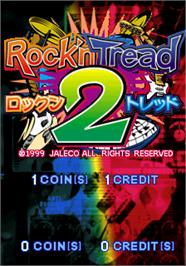 Title screen of Rock'n Tread 2 on the Arcade.