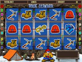 Title screen of Rock Climber on the Arcade.