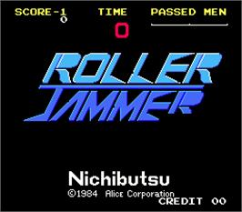 Title screen of Roller Jammer on the Arcade.
