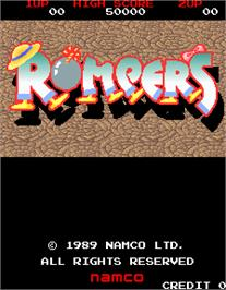 Title screen of Rompers on the Arcade.