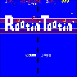 Title screen of Rootin' Tootin' / La-Pa-Pa on the Arcade.