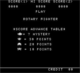 Title screen of Rotary Fighter on the Arcade.