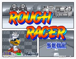 Title screen of Rough Racer on the Arcade.