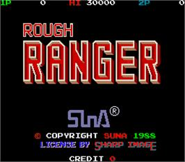 Title screen of Rough Ranger on the Arcade.