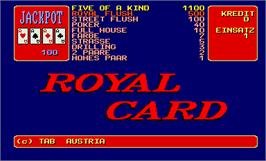 Title screen of Royal Card on the Arcade.