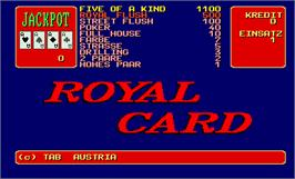 Title screen of Royal Card v2.0 Professional on the Arcade.