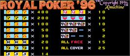 Title screen of Royal Poker '96 on the Arcade.