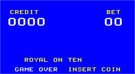 Title screen of Royal on Ten on the Arcade.