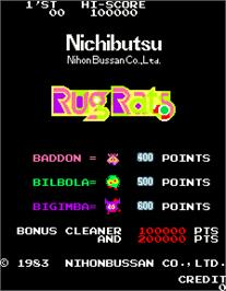 Title screen of Rug Rats on the Arcade.