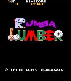 Title screen of Rumba Lumber on the Arcade.