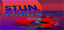 Title screen of S.T.U.N. Runner on the Arcade.