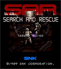 Title screen of SAR - Search And Rescue on the Arcade.