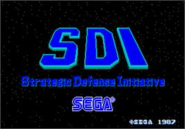 Title screen of SDI - Strategic Defense Initiative on the Arcade.