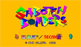 Title screen of Saboten Bombers on the Arcade.